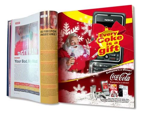 Coke X-Mas Printwerbung Stefie Plendl