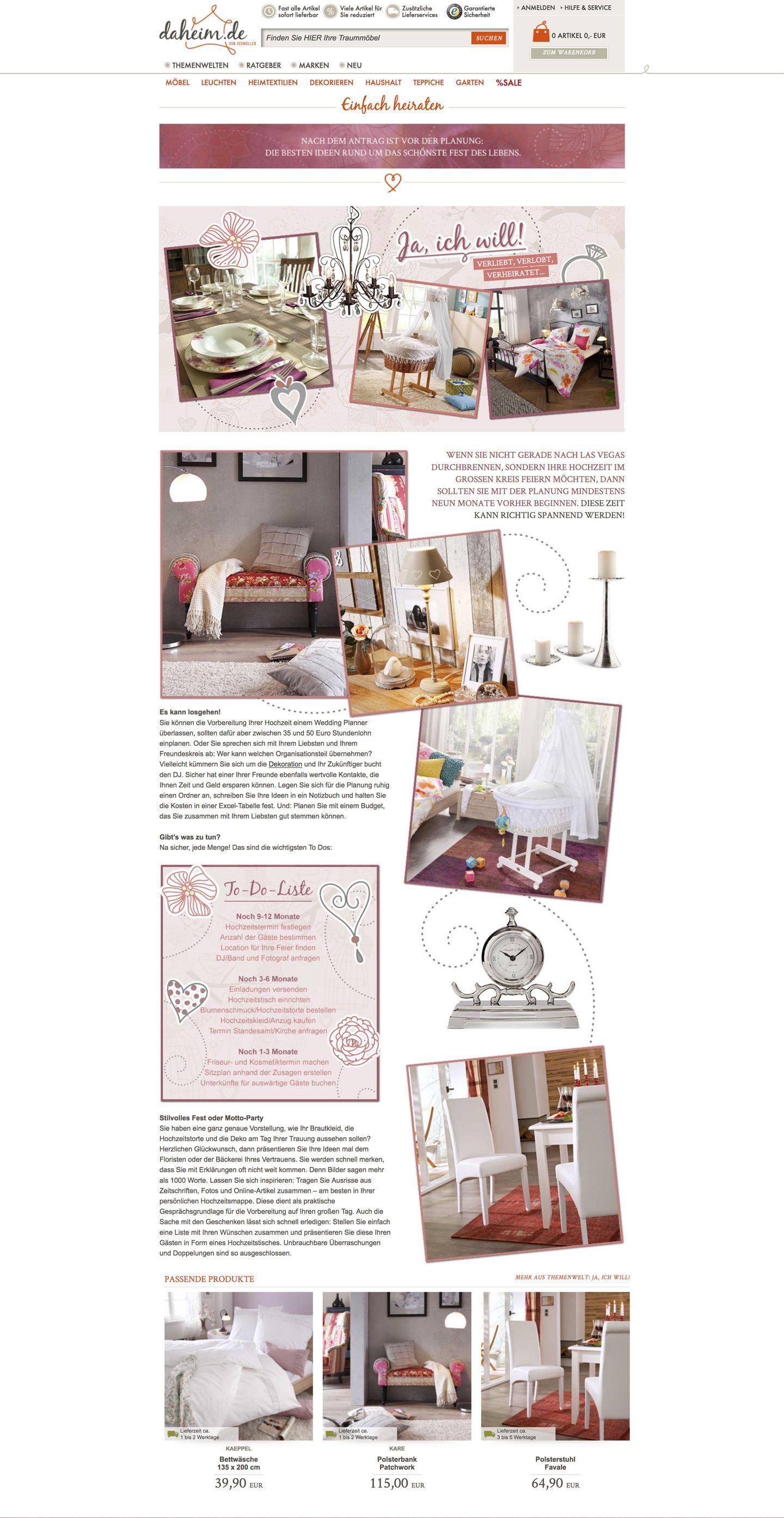 Daheim.de Website Stefie Plendl