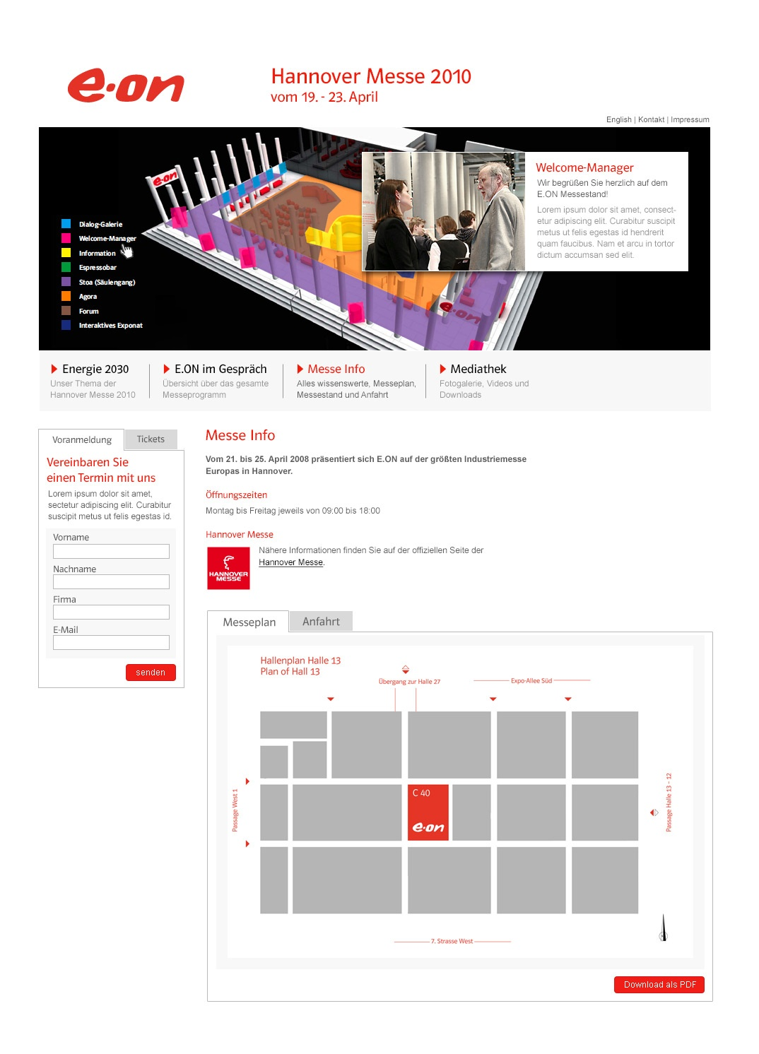 E.ON Microsite Hannover Messe 2010 Stefie Plendl