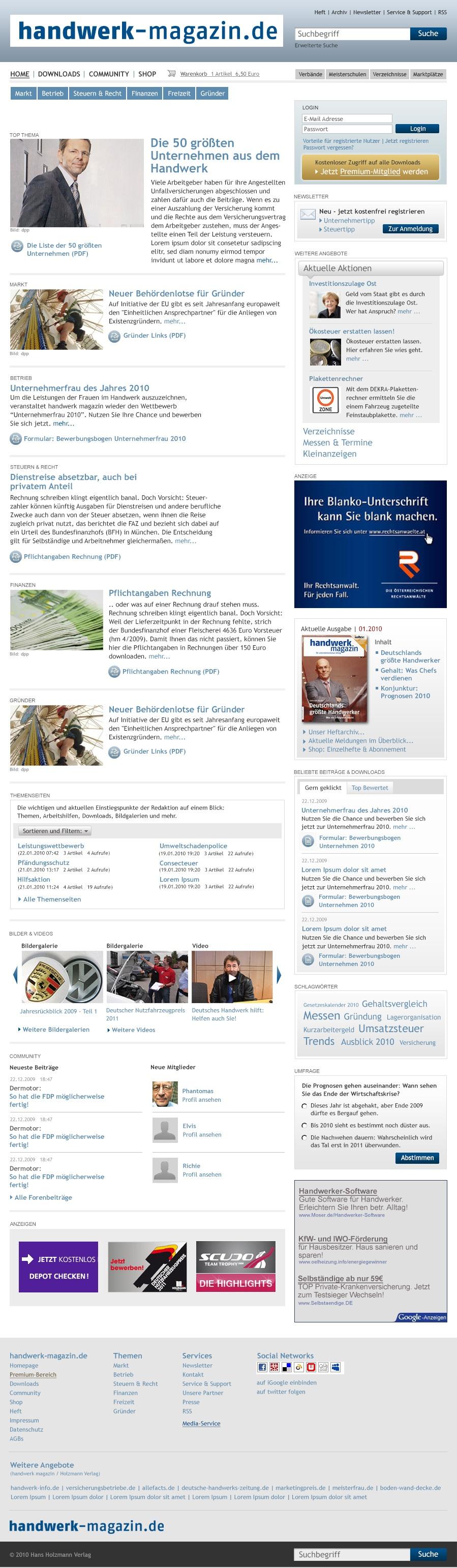 handwerk magazin Website Stefie Plendl