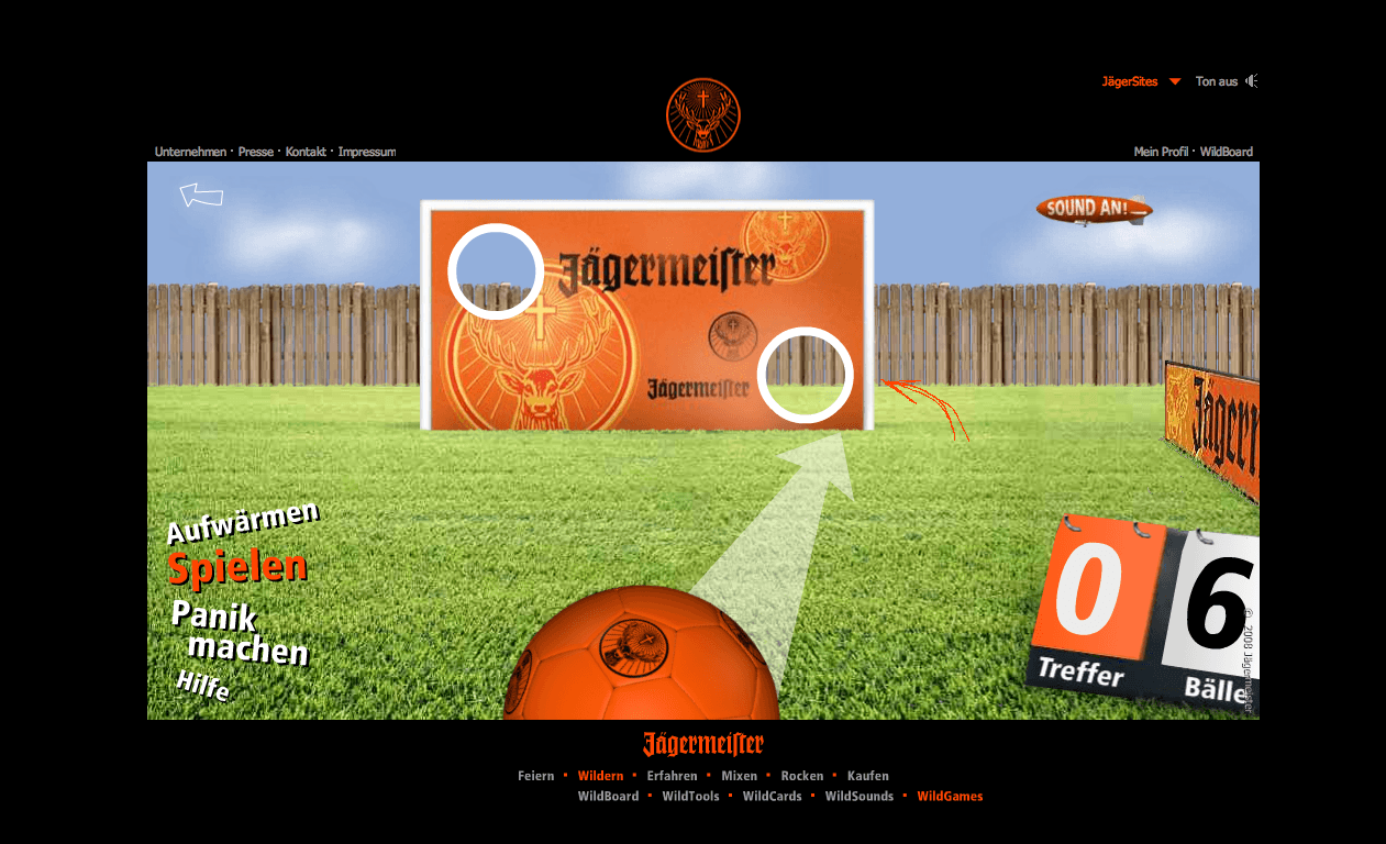Jägermeister Torschusspanik Website Stefie Plendl