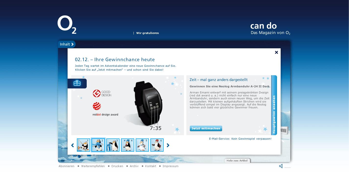 O2 can do Website Silvesterparty Gewinnspiel Stefie Plendl