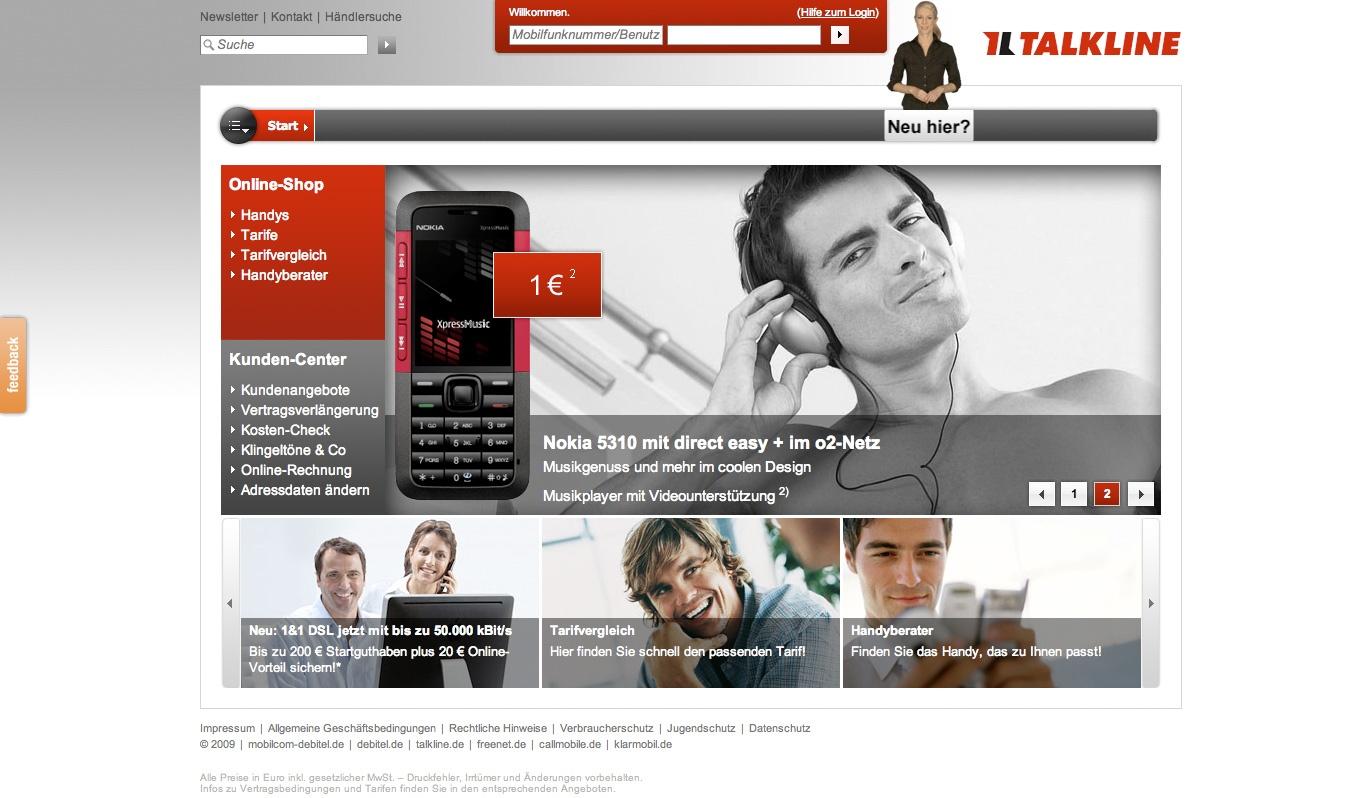 Talkline Homepage  Stefie Plendl