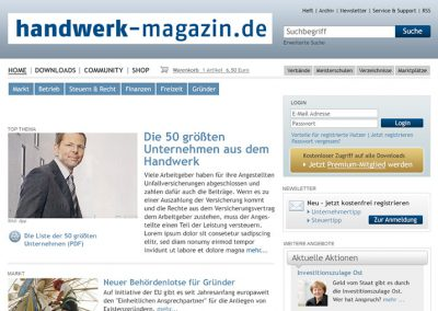 HANDWERK MAGAZIN WEBSITE