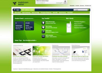 MOBILCOM-DEBITEL WEBSITE
