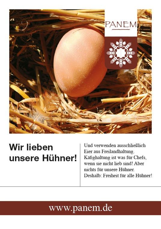 Panem Hühner Flyer Stefie Plendl