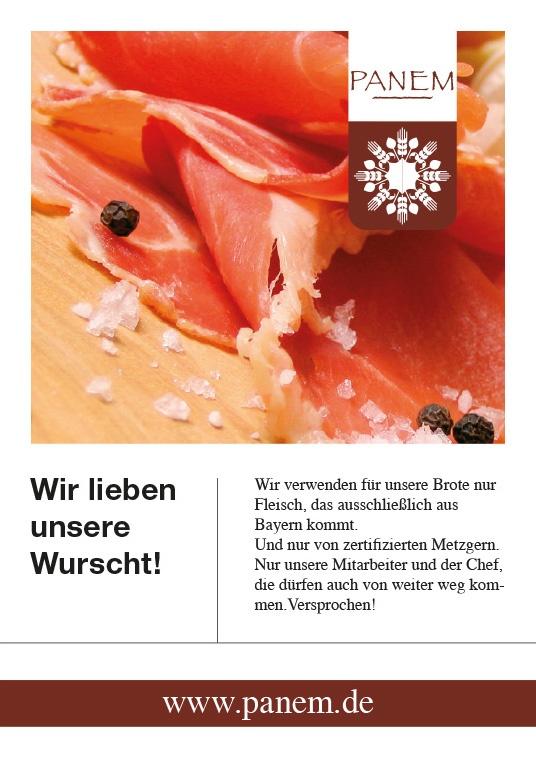 Panem Wurscht Flyer Stefie Plendl