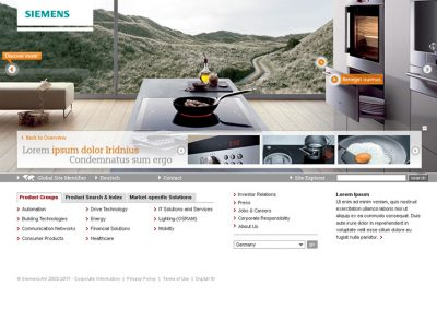 SIEMENS WEBSITE STYLEGUIDE