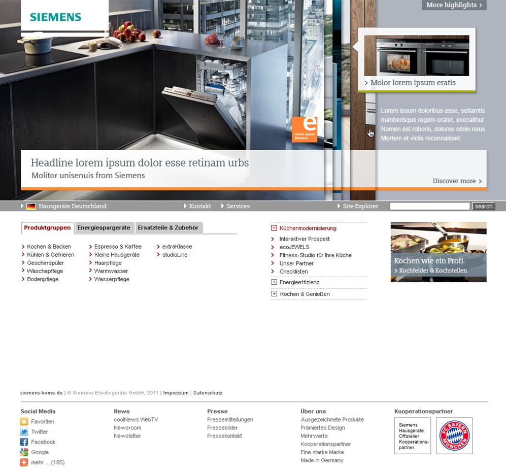 Siemens Website Styleguide Stefie Plendl
