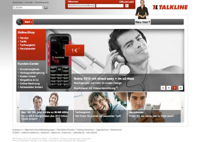 TALKLINE WEBSITE